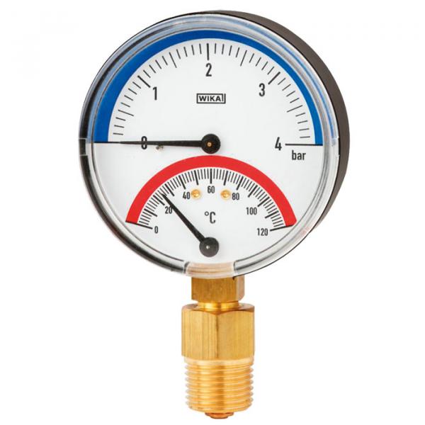 Термоманометр ZOTA 4 бар, 120С 1/2 д=63