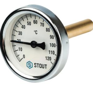 Термометр биметаллический с погружной гильзой SIM-0001-635015