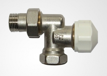 Клапан термостатический осевой (подключение ЕК) 1/2 * 3/4 ЕК